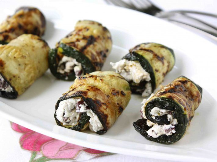 Grilled Zucchini Rolls with Herbed Goat Cheese & Kalamata Olives | Re ...