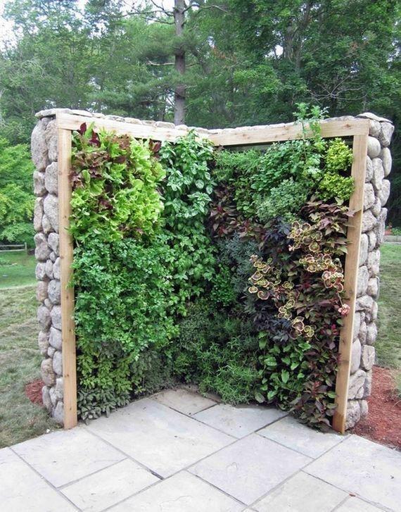 Outdoor herb wall Garden designs Pinterest