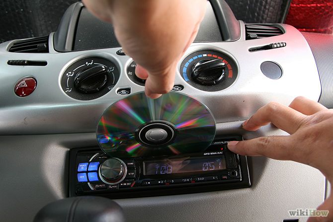 how to get stuck cd out of car