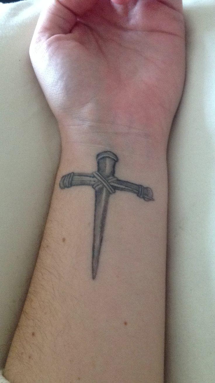 Similiar Cross Made Of Nails Tattoos Keywords