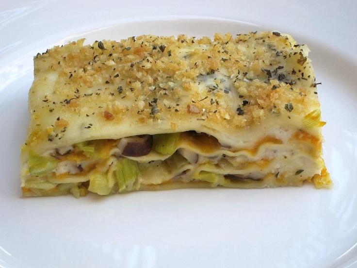Butternut Squash And Mushroom Lasagna Recipe — Dishmaps