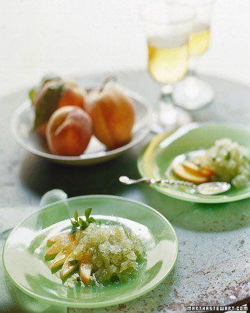 Summer Melon With Basil-Mint Granita Recipe — Dishmaps