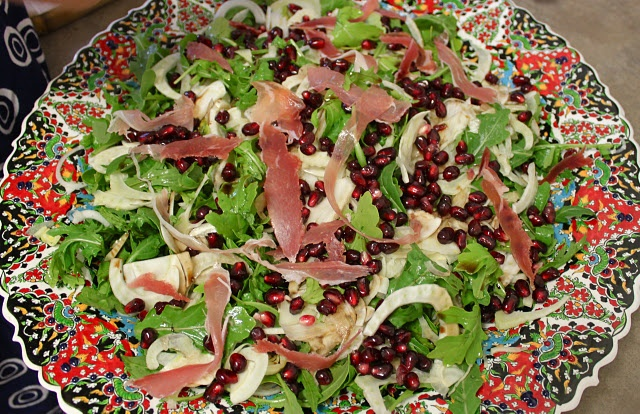 Fennel, prosciutto and pomegranate salad | fitness | Pinterest