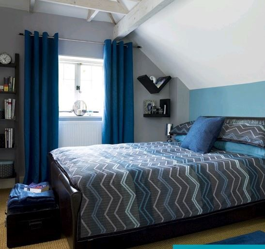 blue and grey bedroom home and garden pinterest