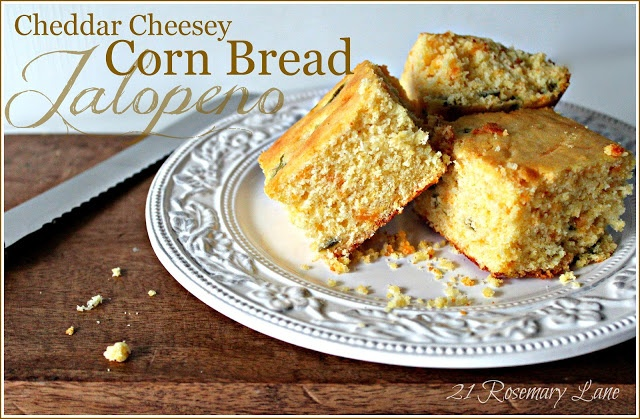Cheddar and Jalapeno Corn Bread | Mexican Foods | Pinterest