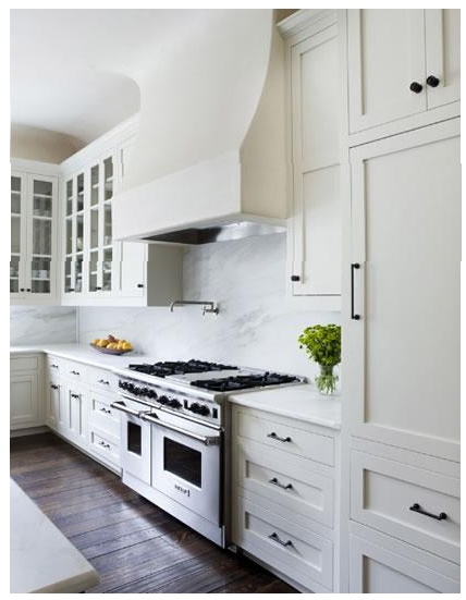 Pulls and white cabinets  Kitchen  Pinterest