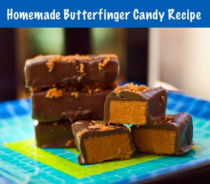 Homemade-Butterfinger-Candy-Recipe   Bars and cookies   Pinterest