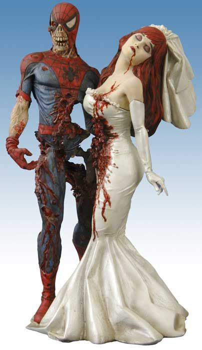 Zombie Spiderman and Mary Jane