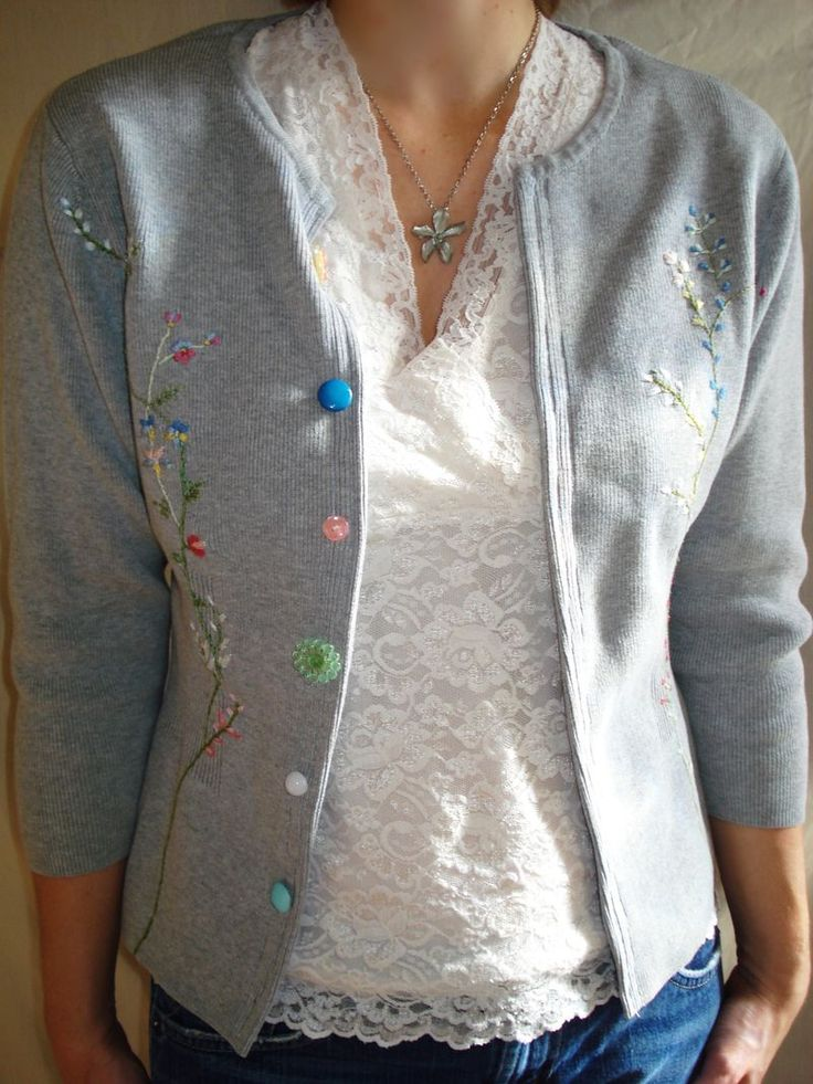 refashion sweater into cardigan | Realistic Upcycling | Pinterest