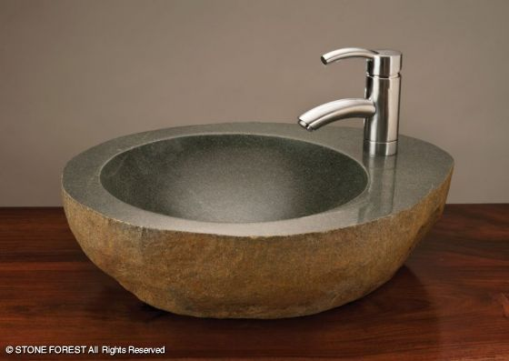 Stone Forest Sinks : Stone Forest Sinks: Natural Sinks: Natural Vessel with faucet mount