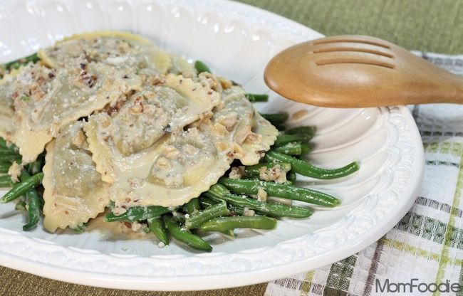 Mushroom Agnolotti & Green Beans in Creamy Walnut Sauce Recipe (and ...