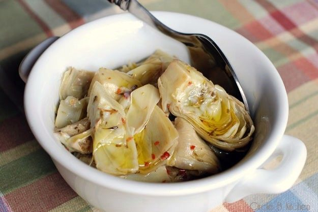 ... artichoke hearts with cheese tortellini in a light lemon butter sauce