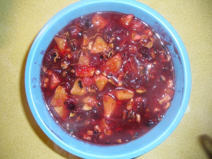 Cranberry orange Walnut Relish