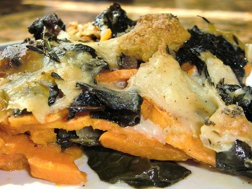 gratin food52 s sweet potato and pancetta gratin kale and sweet potato ...