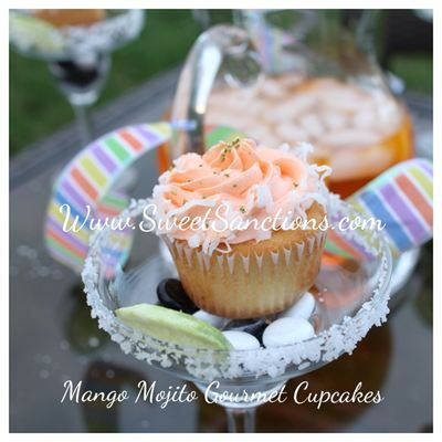 Mango Mojito Gourmet Cupcake : Mango infused gourmet cake with a rum ...