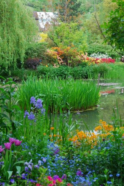 Giverny. Monet's garden in France.