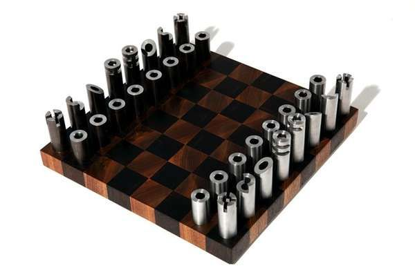 Post Modern Cylindrical Chess Sets