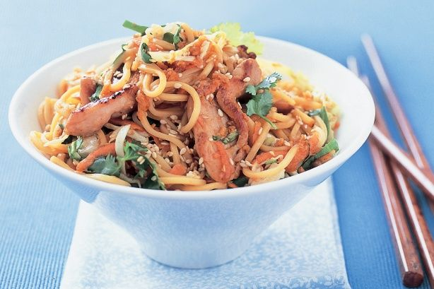 Asian chicken noodles _ Create this noodle takeaway classic at home ...