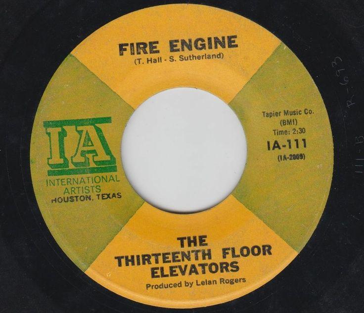 the thirteenth floor elevators fire engine on ia tx garage