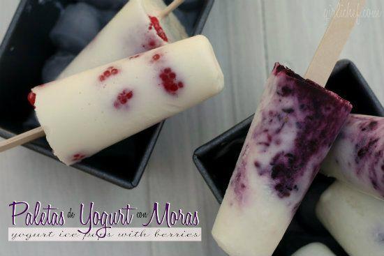 girlichef: Paletas de Yogurt con Moras {Yogurt Ice Pops w/ Berries ...