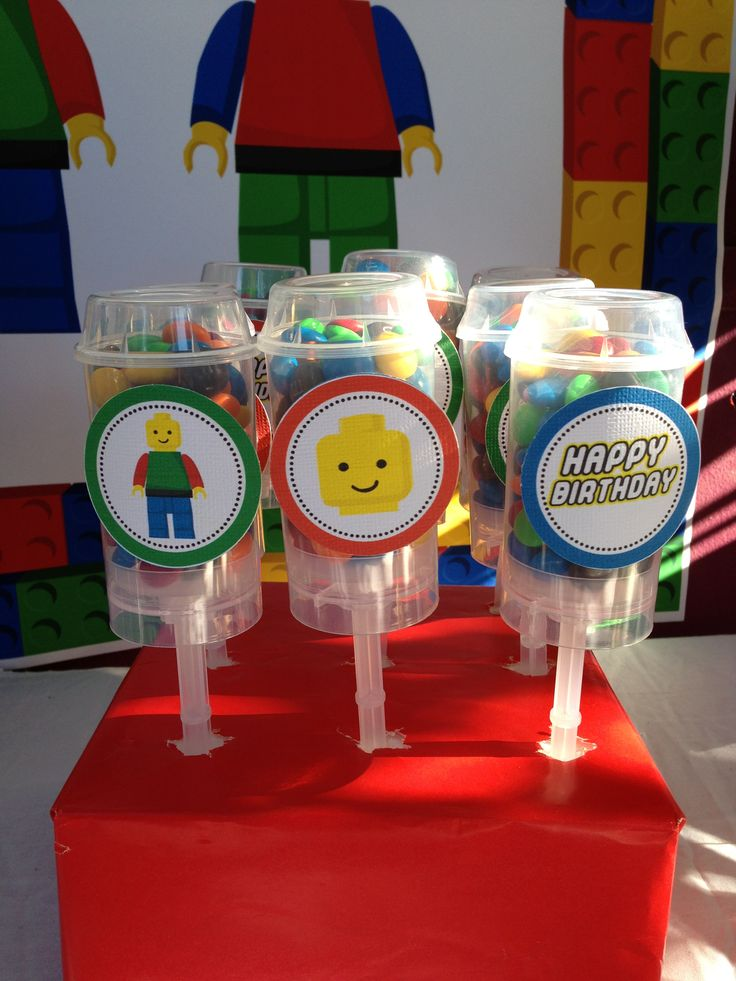 Lego m push pops by me (Yummylicious cake Design) Circles by Giggles ...