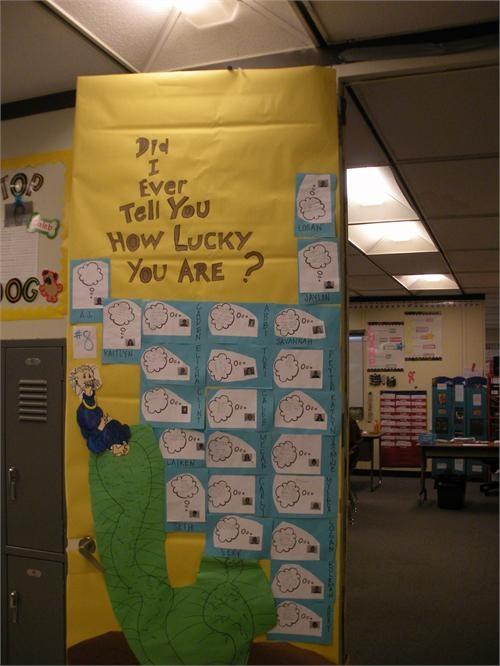 Dr seuss door decorations school stuff pinterest