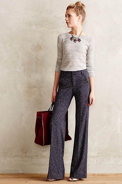 Flecked Brighton Trousers, fall style, womens fashion
