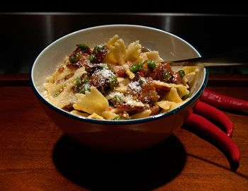and Egg Farfalle Recipe: This is a heartier version of Pasta Carbonara ...