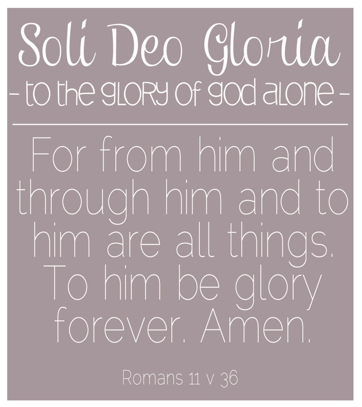 soli deo gloria reformation day