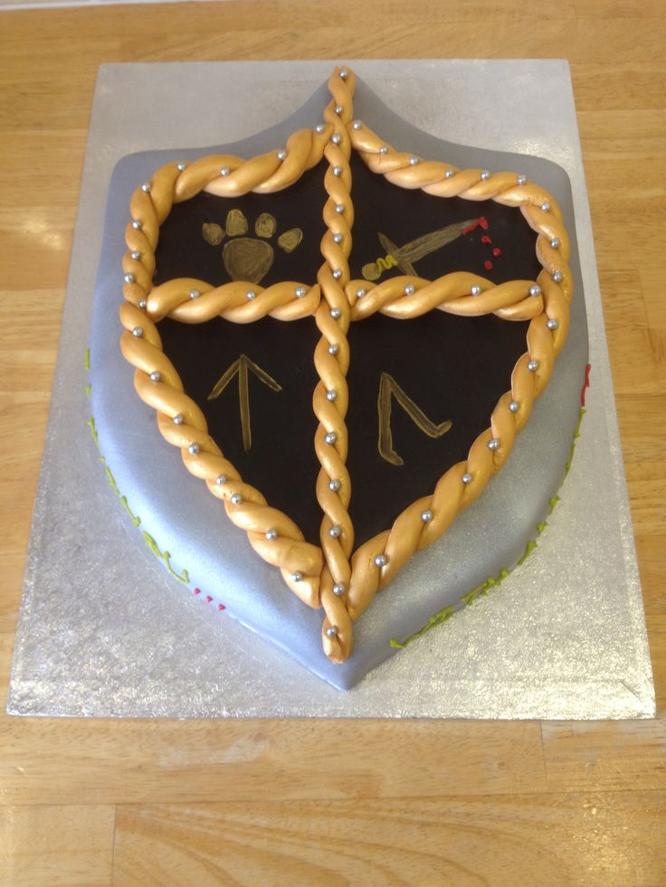 Pin Knights Shield Template Index Of Cake On Pinterest