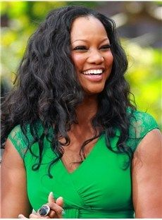 Garcelle beauvais hairstyle loose fluffy long wavy lace front wig % Slim body hazel eyes dark brown hair hairstyles be a man crusher