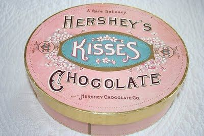 Vintage Hershey's Kisses Box.