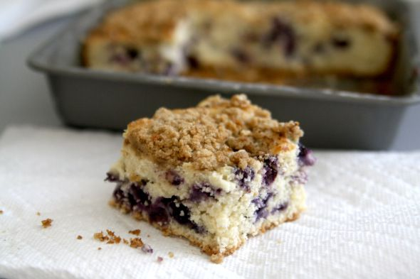 Blueberry Buttermilk Coffee Cake with Streusel Topping- a delicious ...