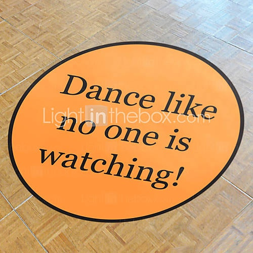 Personalized Solid Color Wedding Dance Floor Decal (More Colors)