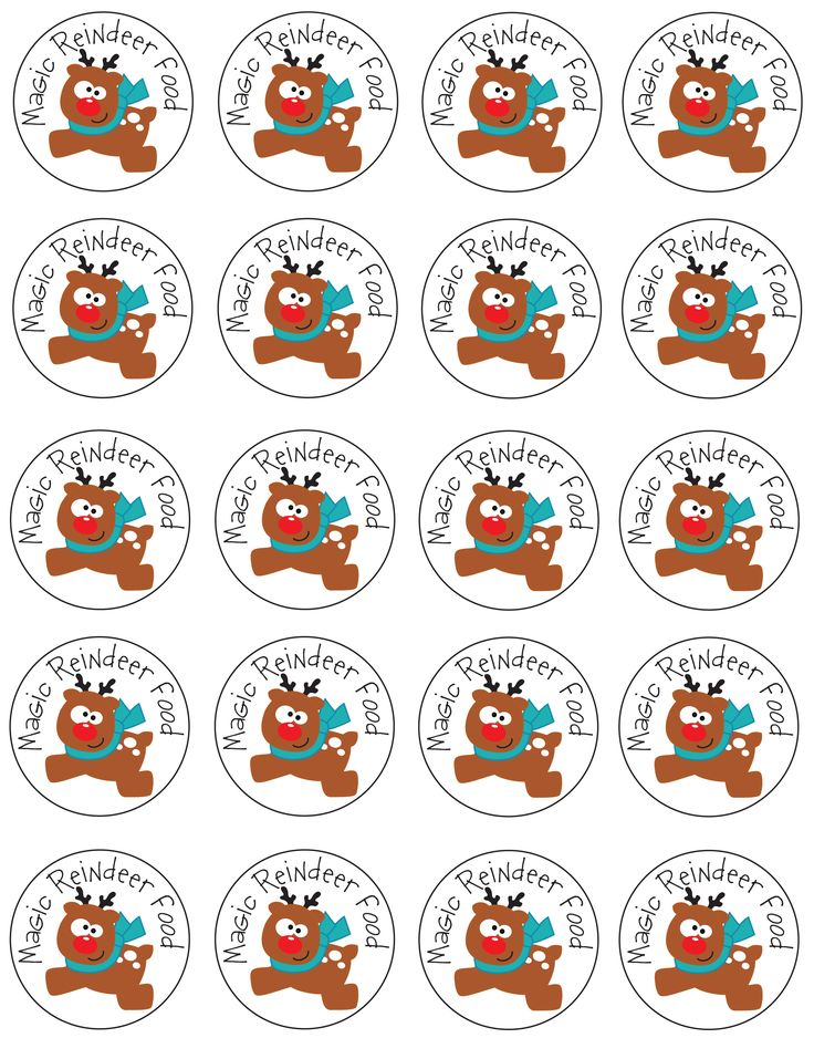 Magic Reindeer Food Tags | it's the most wonderful time of the year ...