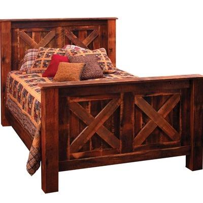 Fireside Lodge Reclaimed Barnwood Panel Barndoor Bed Wayfair