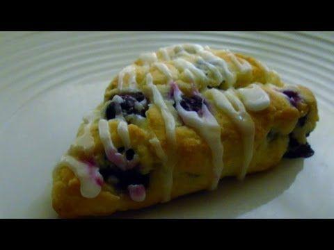 Blueberry Scones with Lemon Glaze | Gluten Free Desserts | Pinterest