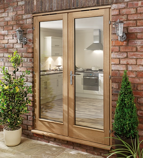 Solid French Doors : Oak doors solid french