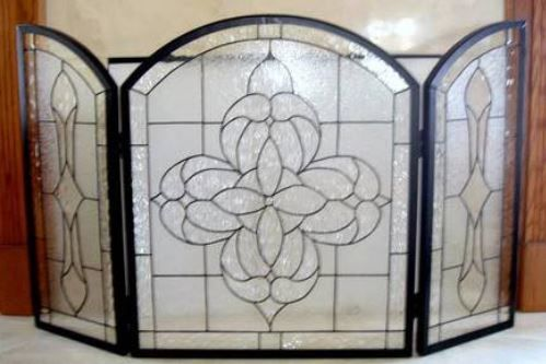 Beveled Glass Fire Screen Stained Glass Fire Screens Pinterest