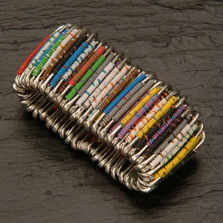 Safety pins bracelets beading pinterest