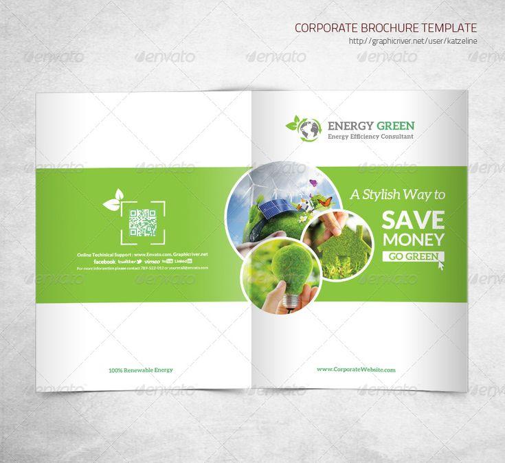 Energy Saving Corporate Bifold Brochure