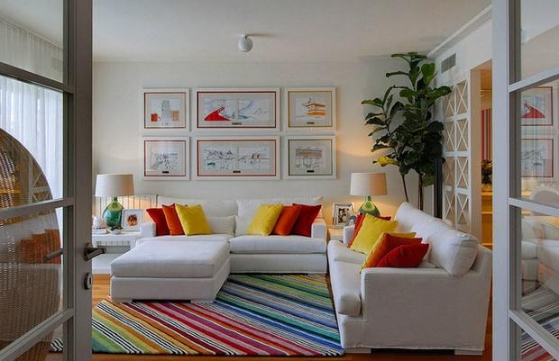 decoracao sofa branco:Maria Barros Interior Design