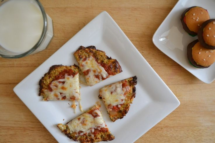 """Cauliflower Crusted Pizza (& I think there are """"Hamburger Cookies&qu..."""