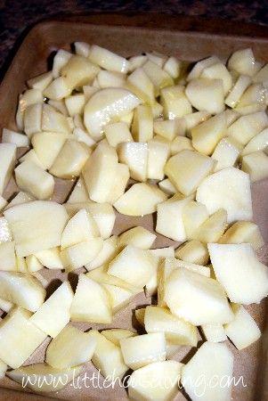 Olive Oil Oven Baked Potatoes - Little House Living