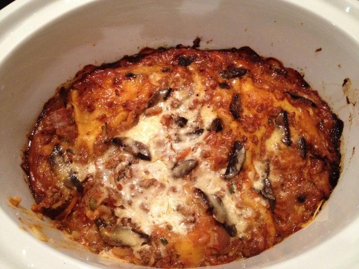 Slow Cooker Lasagne...   Crock Pot   Pinterest