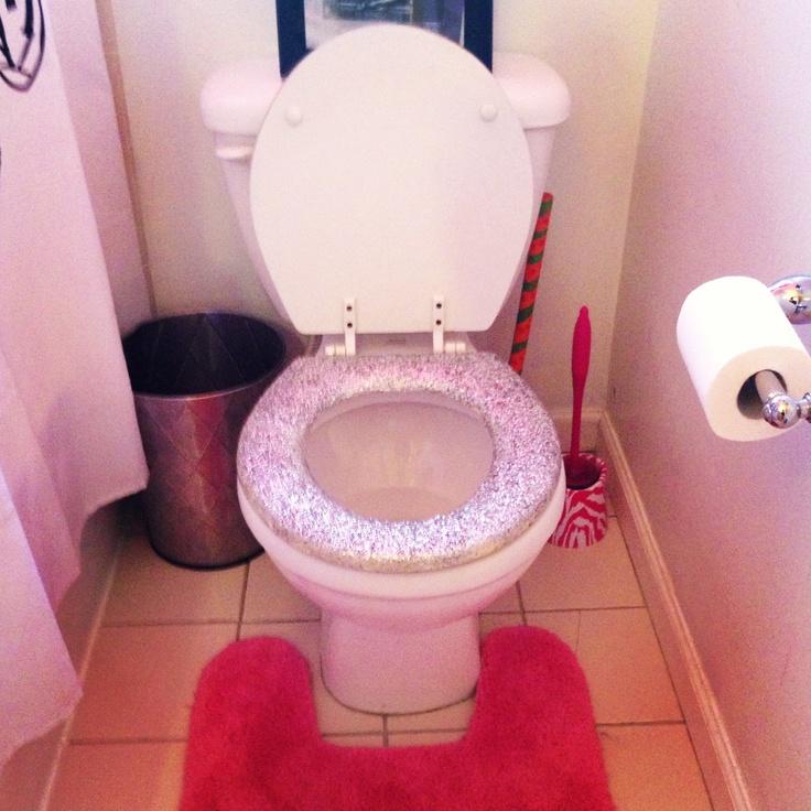White Glitter Toilet Seat Home Design Mannahatta Us