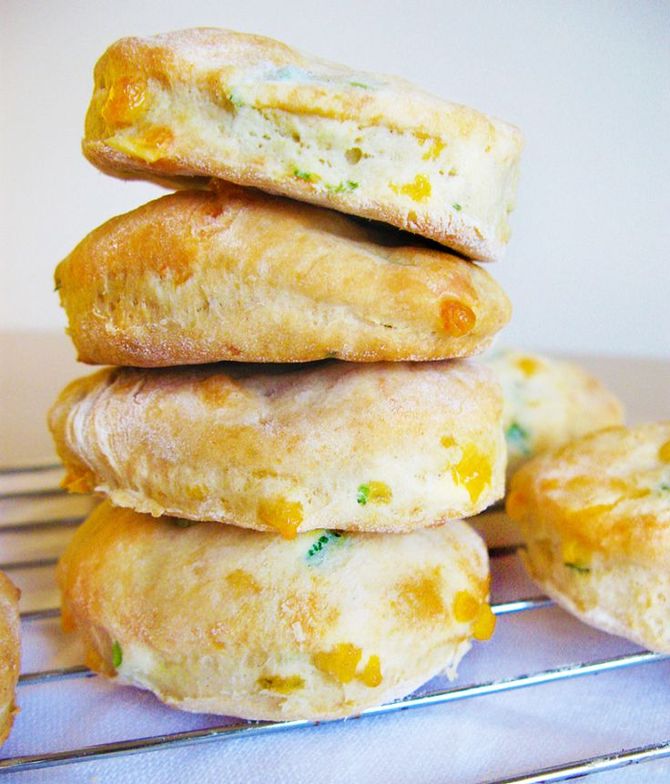made these green onion and cheddar biscuits and they were pretty ...