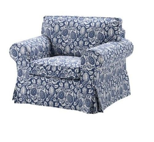 ikea ektorp chair cushion slipcovers klintbo blue back and seat covers