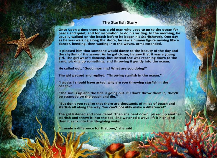 The starfish story just because pinterest for Star fish story