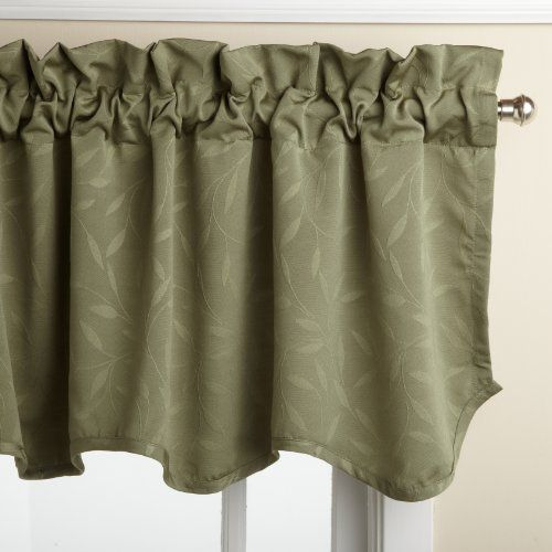 Lorraine Home Fashions Whitfield 52-inch by 18-inch Scalloped Valance ...